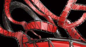 Abstrakt 3D Kształtuje 3d rendering Obraz Royalty Free