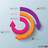 Abstrakt 3D papper Infographic stock illustrationer