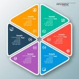 Abstrakt 3D papper Infographics Royaltyfri Fotografi