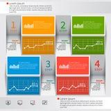 Abstrakt 3D papper Infographics vektor illustrationer