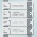Abstrakt 3D papper Infographics6 Royaltyfria Bilder