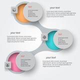 Abstrakt 3D papper Infographics Arkivbild