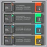 Abstrakt 3D papper Infographics Arkivbilder