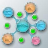 Abstrakt 3D papper Infographics Royaltyfri Foto