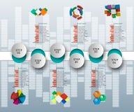 Abstrakt 3D papper Infographics Royaltyfri Bild