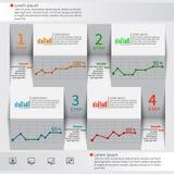 Abstrakt 3D papper Infographics Royaltyfria Foton