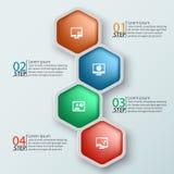 Abstrakt 3D papper Infographics Royaltyfria Bilder
