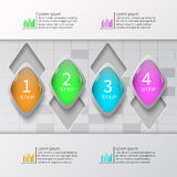 Abstrakt 3D papper Infographics Royaltyfri Foto