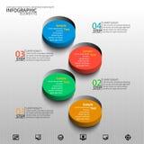 Abstrakt 3D papper Infographics Arkivfoto