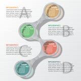 Abstrakt 3D papper Infographics Arkivfoton