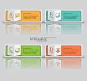 Abstrakt 3D papper Infographics Royaltyfria Foton