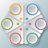 Abstrakt 3D papper Infographics Fotografering för Bildbyråer