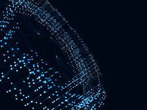 Abstrakt 3d som framför futuristiska prickar och linjer geometrisk digital anslutningsstruktur för dator Konstgjord intelligens Arkivfoton