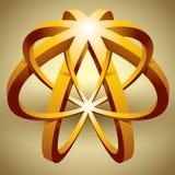 Abstrakt 3d symbol, omöjlig form Royaltyfria Foton