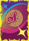 Abstrakt dansaffisch Parti och musikklubba bakgrund är kan olika använda illustrationmusikavsikter Royaltyfri Bild