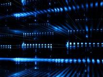 Abstrakt datacenter - digitalt frambragd bild Arkivfoto