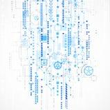 Abstrakt datateknikbakgrund för din affär Arkivbilder