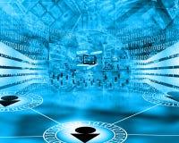 abstrakt dator Arkivbild