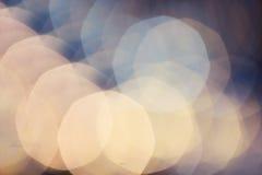 Abstrakt Defocused bakgrund för Bokeh ljustappning Mjuka Beautifu Arkivbild