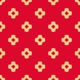 Abstrakt dekorativ blom- sömlös modell för vektor i röda och solbrända färger stock illustrationer