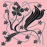 Abstrakt dekorativ blommaprydnad Royaltyfri Fotografi