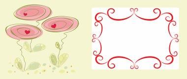 abstrakt dekorativ blommaram Fotografering för Bildbyråer