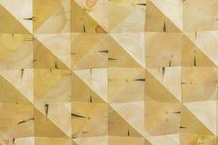 Abstrakt dekorativ ekologisk omålad ljus wood bakgrund, geometrisk mosaikmodell, naturlig yttersida Träkonst Arkivbilder