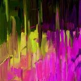 Abstrakt dekorativ målning för inre vid olja på kanfas, illu Arkivbild