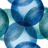 Abstrakt dekorativ sömlös bakgrund med cirklar Royaltyfri Fotografi