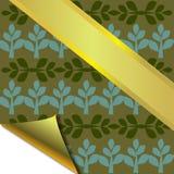 Abstrakt dekorativ trädram med guld Arkivbilder