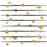 Abstrakt dekorativ vektorbakgrund med guld- konfettier royaltyfri illustrationer
