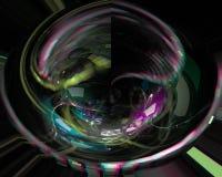 Abstrakt dekorativ virvel för kurva för effektvågfantasi royaltyfri illustrationer