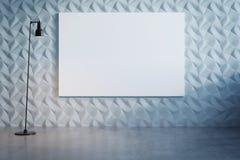 Abstrakt dekorativ vit vägg med vit kanfas fotografering för bildbyråer
