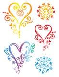 abstrakt dekorativa element vektor illustrationer