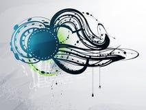 abstrakt dekorativa element stock illustrationer