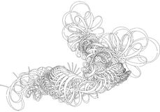 abstrakt dekorativa swirls vektor illustrationer