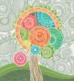 Abstrakt dekorativt magiskt träd med många detailes vektor illustrationer