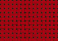 Abstrakt dekorativt rött texturerat väva för korg Royaltyfria Bilder