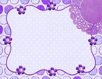 Lavendeldoilyen inramar Royaltyfria Bilder