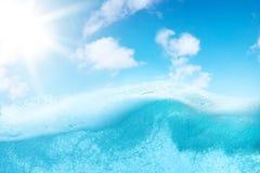 Abstrakt design av vattensplittring Royaltyfri Fotografi