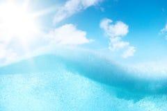 Abstrakt design av vattensplittring Fotografering för Bildbyråer