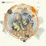 Abstrakt design för broschyr för mallar för reklamblad för grungeeffektklubba Royaltyfria Bilder