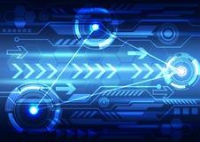 Abstrakt design för digital teknologi Arkivfoton