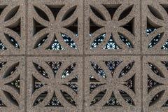 Abstrakt design för granitstenvägg Royaltyfri Foto