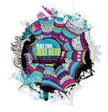 Abstrakt design för grunge för vektorspindelrengöringsduk royaltyfri illustrationer