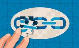 Abstrakt design för pusselstyckbegrepp vektor illustrationer