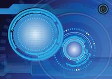 Abstrakt design för teknologibakgrundsvektor Royaltyfri Bild