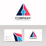 Abstrakt design för vektor för logo för triangel för symbol för pilteckenpekare Fotografering för Bildbyråer