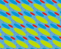 Abstrakt design i blått med cirklar Arkivbilder