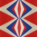 abstrakt design med ark av skummande i röda och blåa färger för vit, texturerad bakgrund Fotografering för Bildbyråer